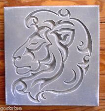 etched lion stepping stone plastic mold see more  wild animal designs too!