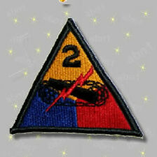 "2nd Armored Division patch, color, full size, US Army surplus ""Hell on Wheels"""