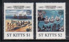 St Kitts 341-2 Columbus Mint NH