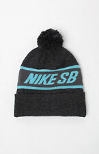 MEN'S GUYS NIKE SB Snowflake POM black/grey  BEANIE TOQUE SKI HAT NEW
