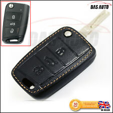 Premium Leather Case for VW GOLF MK7 SEAT SKODA Mark 7 Cover Key Fob Holder gti