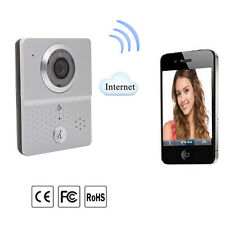 Wireless 3G/4G/WiFi Remote Video Door Phone Intercom Doorbell IR Camera Silver