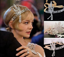 2015 Hot Bridal Great Gatsby 1920s 1:1 Headpiece Pearls Charleston Headband