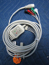 New 5 Lead EKG ECG Cable with Leads 4 HP Agilent Philps Patient Monitor  12 Pin