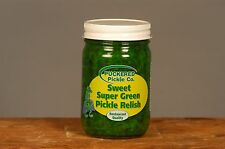 Super GREEN Sweet Pickle Relish: Chicago Style