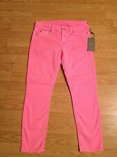 NWT 7 For All Mankind Crop Skinny Jeans Size 31 PINK $170