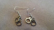 Handcuff earrings (fetish/BDSM,50 shades of grey,police,prison warden etc)