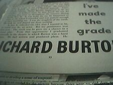 film item 1950 article richard burton leaving hollywood old vic