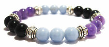 PHYSICAL PAIN RELIEF 8mm Crystal Intention Bracelet w/Description- Healing Stone