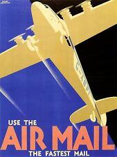 Impresión arte cartel anuncio de servicio de correo aéreo avión avión Post Fly nofl1508