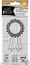 Docrafts Papermania transparente mini sellos de goma Roseta Mr Mister 75x140mm