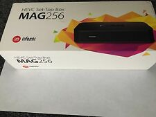 MAG 256 Infomir H.265 Video Decoder IPTV SetTop Box STB MediaStreamer FULL HD 3D