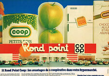 PUBLICITE ADVERTISING 054  1984  MAGASINS COOP  ( 2 pages)  ROND POINT