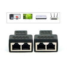 1 to 2 Port RJ45 LAN Network Ethernet Connector Splitter Extender Plug Adapter J