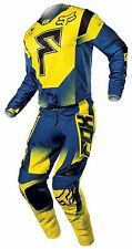 FOX RACING adult motocross COMBO 360 FRANCHISE Pants 36, Jersey 2XL Yellow Blue