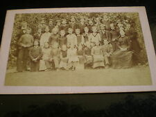 Cdv old photograph school class by Stackemann at Esher c1870s