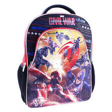NWT Marvel Captain America Civil War with LED Lights School Bag Travel Backpack