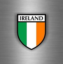 Sticker decal car vinyl motorcycle tuning jdm flag ireland irelande irish shield
