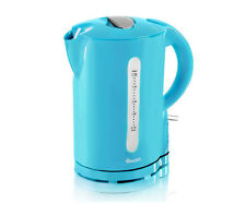 Swan Blue Electric Cordless Automatic Cut Off Kitchen Jug Kettle 2200w 1.7 Litre