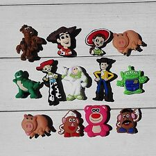 Mixed 100PCS Toy Story PVC shoe Accessories,shoe charms for Bracelets JIBZ Gifts