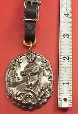 Vintage 1910 Model T Woman Auto Car  2in Pocket Watch Fob Or Key Chain