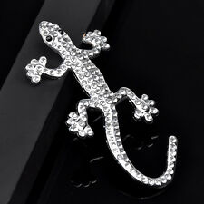 3D Alliage Gecko Strass Sticker Badge Décor Autocollant de Voiture Décoratif