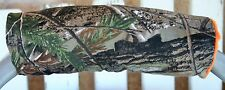 realtree and orange minky infant car seat carrier handle cushion