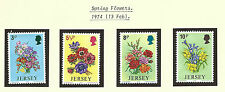 JERSEY QEII 1974  - SPRING FLOWERS - Set of 4 - Mint MNH