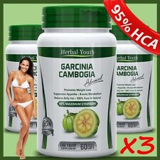 3 BOTTLES - 180 GARCINIA CAMBOGIA STRONGEST Weight Loss Capsules Slimming Pills