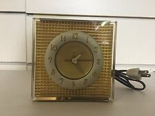 Art Deco Allied Precision industries A.P.I. Model 100 Gold Electric Clock