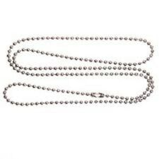 Stainless Steel 24 Inch 2.4 mm Ball Link Neck Chain Necklace