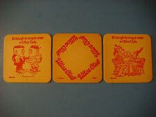 3 Beer Bar Coasters    The WEST END Brewing Co Utica Club ~ Utica, NEW YORK
