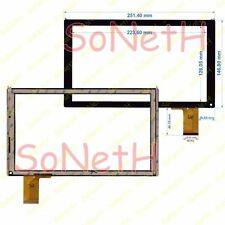 "Touch screen 10,1"" Carrefour Tablet Tactive CT1005 CT 1005 Vetro Digitizer Nero"