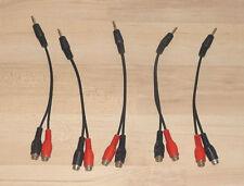 5 St. Klinke Cinch Adapter Verteiler Stecker Handy MP3 an Verstärker 3,5mm