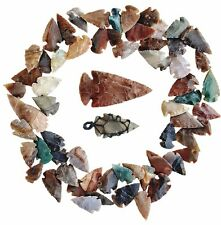 62 PCS LOT OF ASHKII ARROWHEADS SPEARHEAD POINTS HUNTING FLINT STONE COLLECTION