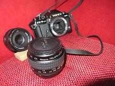 reflex analogica Yashica fx-3 super 2000 + duplicatore di focale Macro Teleplus