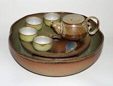 One of a Kind Handmade Kung Fu(Gong Fu)Tea Set for 4 Dishwasher Safe Multi-color