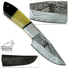 Rebel Wolf River Master Full Tang Damascus Steel Hand Forged Knife Sharp Bowie