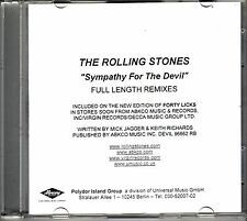 "Rolling STONES ""Sympathy for the Devil"" full length Remix 3 Track Promo CD RARE"