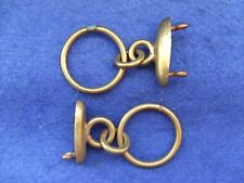 2 X VICTORIAN BRITISH ARMY OFFICERS POUCH BELT FIXINGS WITH CHAIN LOOPS TO BELT