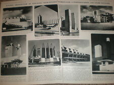 Photo article buildings for Chicago World's Fair USA 1933