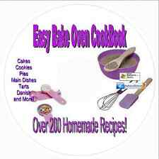 Easy Bake Oven Recipe Cookbook-218 Recipes-Bars-Cakes-Pies-Pizza-Brownies- CD