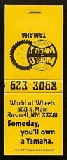 YAMAHA MOTORCYCLE Roswell New Mexico WORLD OF WHEELS 1970's Full 20 fs Matchbook