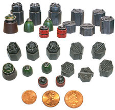 Sci Fi Supplies #1 Fuel Drums (13 Pieces) Warhammer / Wargaming