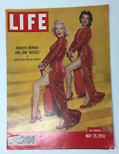 Original Life Magazine COVER Article ONLY May 25 1953 Marilyn Monroe Russell