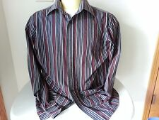 Ben Sherman black, gray, red stripe long sleeve button down shirt - mens 16