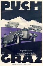 Puch Plakat Gustav Braunbeck Graz Fahrräder Motoren Motorräder  Motor A2 005