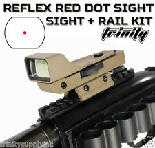 RED DOT SIGHT KIT MOSSBERG 500 SHOTGUN TACTICAL WEAVER RAIL MOUNT, TAN SIGHT