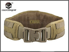 EMERSON Military Tactical Modular 1000D Combat Padded Molle Waist Belt Khaki DE