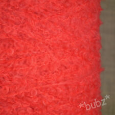 SUPER SOFT KID MOHAIR MERINO WOOL CORAL PINK 500g CONE 10 BALLS LOOP BOUCLE YARN